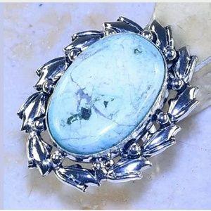 Turquoise Stone Handmade .925 Ring 6